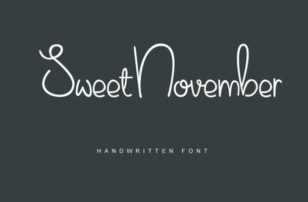 Sweet November Font Free