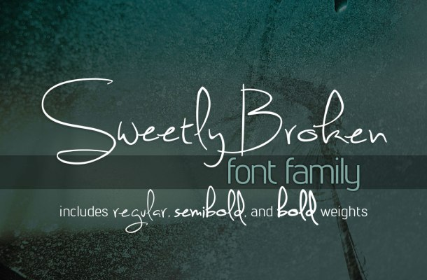 Sweetly Broken Font Family