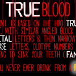 TRUEblood Font Free