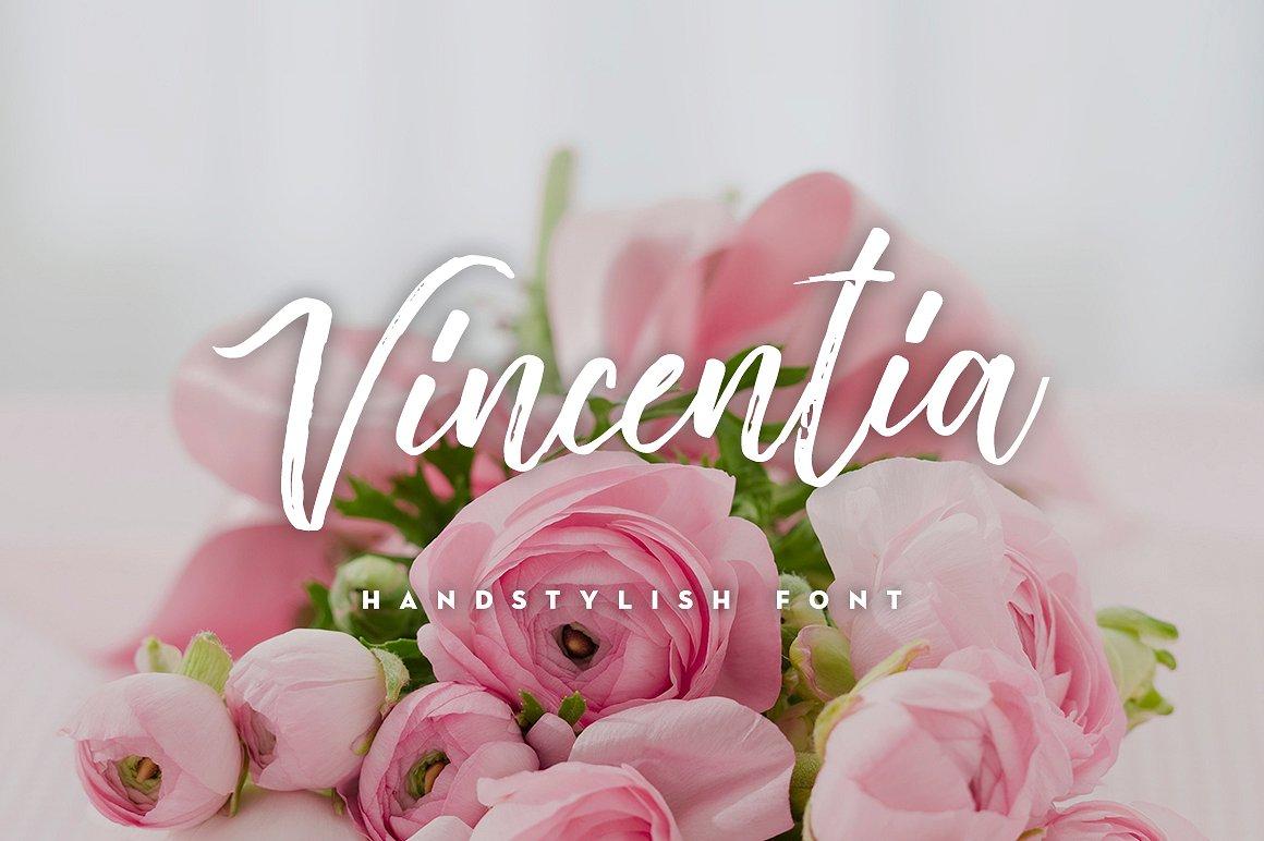 vincentia-handstylish-font