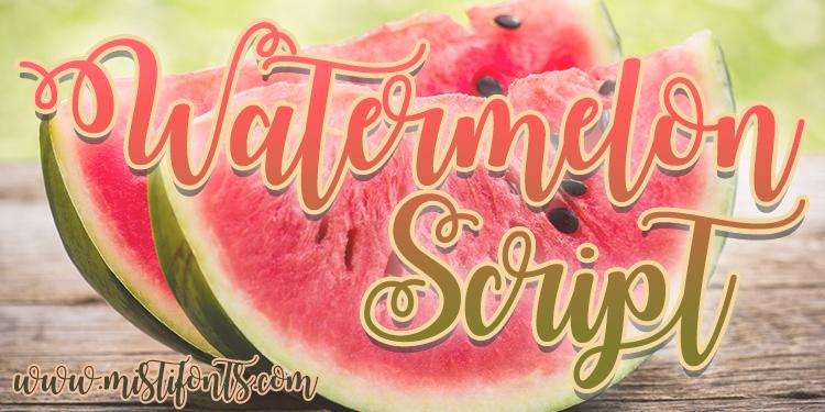 watermelon-script-font