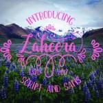 Zaheera Script Font Free