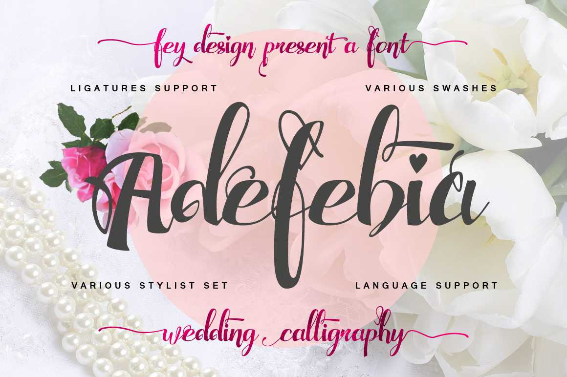 Adefebia Wedding Script Font Free - Dafont Free