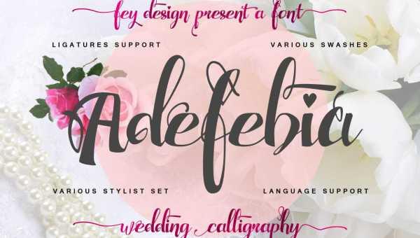 Adefebia Wedding Script Font Free
