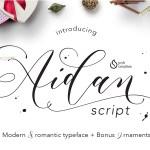 Aidan Romantic Script Font Free