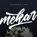 Mekar Script Font Free