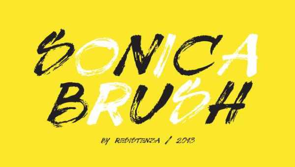 Sonica Brush Font Free