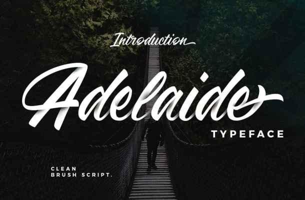 Adelaide Script Font Free Download