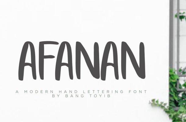AFANAN Brush Font Free Download