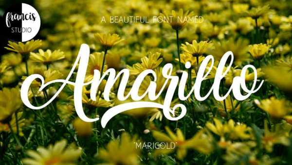 Amarillo Font Free Download
