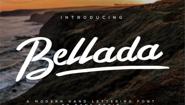 Bellada Script Font Free