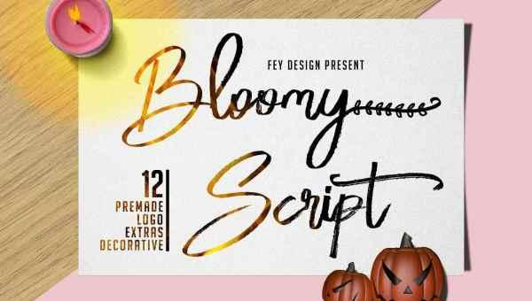 Bloomy Script Font Free