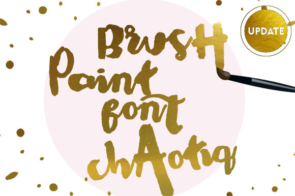 Chaotiq Modern Paint Brush Font Free