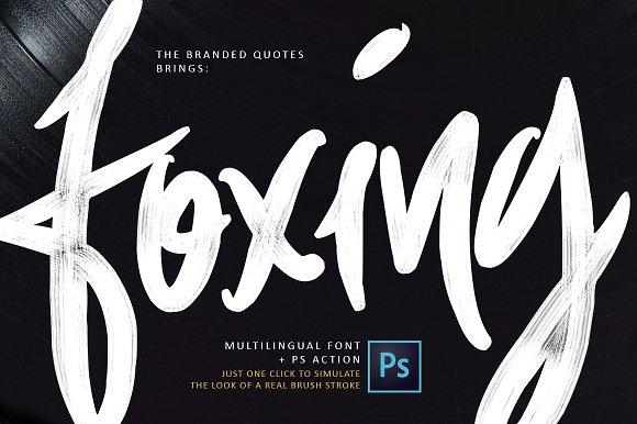 foxing-brush-font