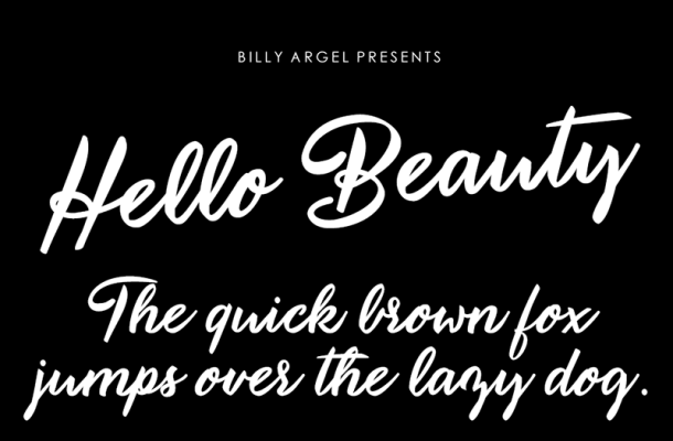 Hello Beauty Font Free Download