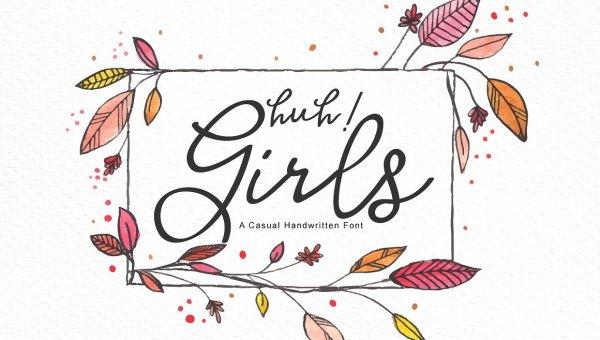 Huh! Girls Script Font Free