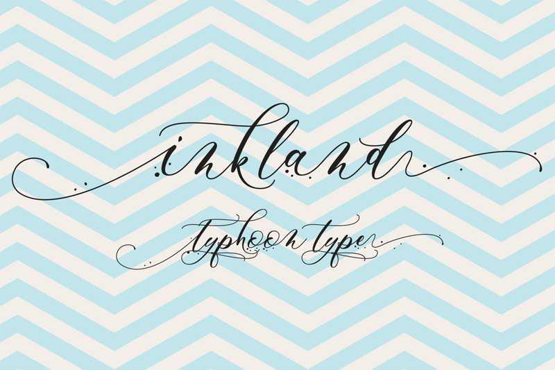 inkland-script-font