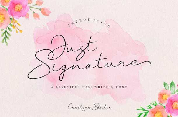 Just Signature Font Free Download