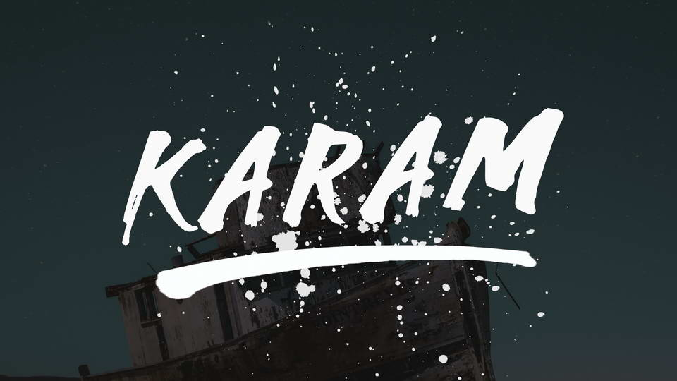 karam-brush-font