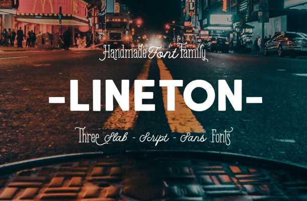 Lineton Font Family Free