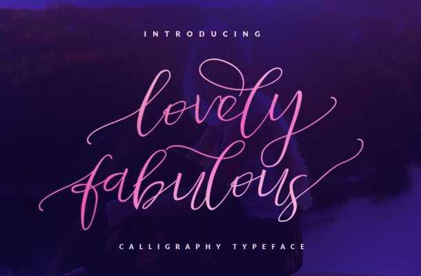Lovely Fabulous Script Font Free