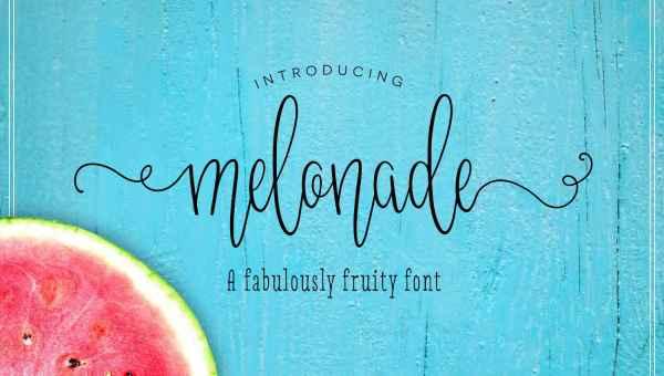 Melonade Script Font Free