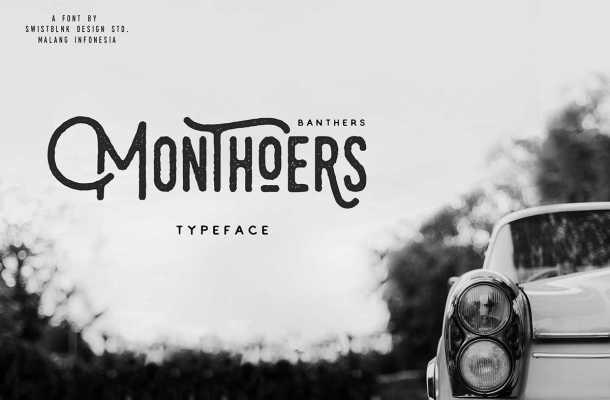 Monthoers Font Free