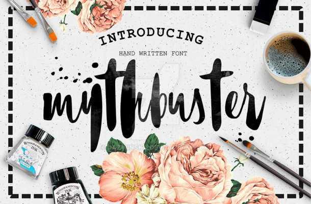 Mythbuster Script Font Free