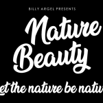 Nature Beauty Font Free Download