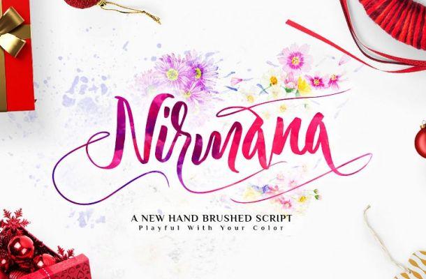 Nirmana Calligraphy Font Free