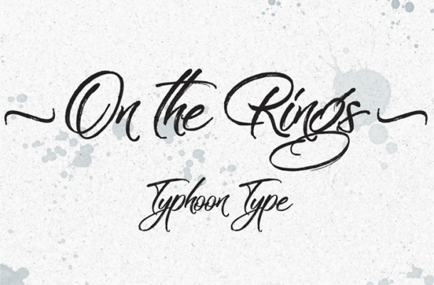 On the Rings Brush Font Free