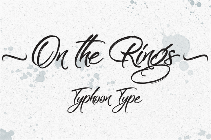 on-the-rings-font