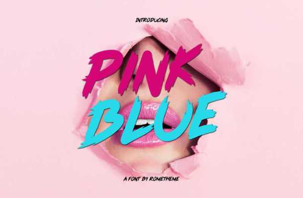 Pink Blue Font Free Download