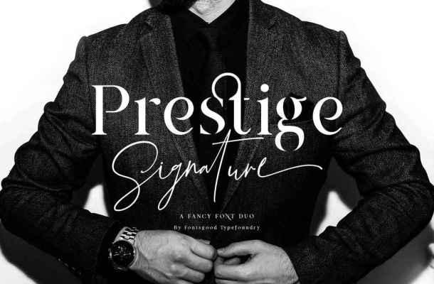 Prestige Signature Script Font Free Download