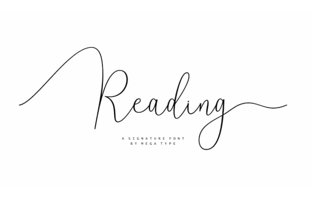 Reading Signature Font Free Download
