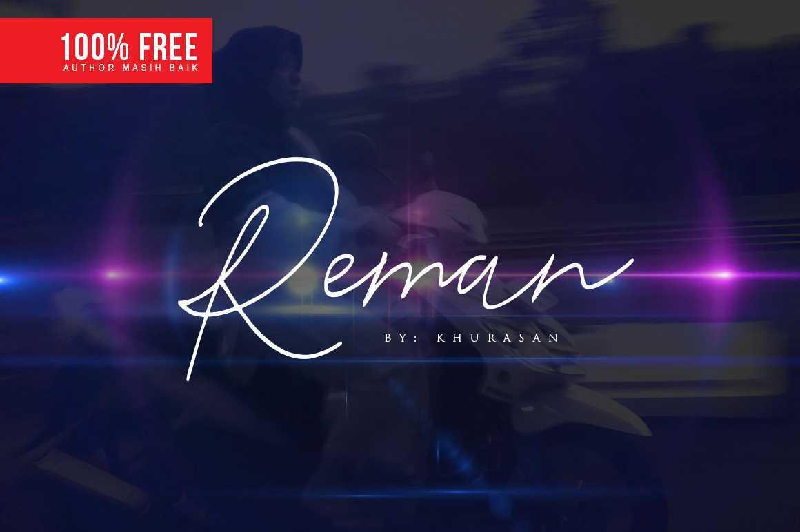 reman-script-font