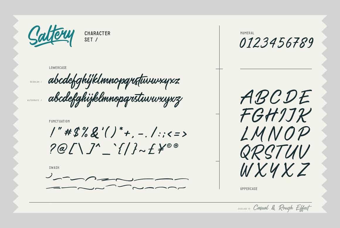 saltery-brush-font-1