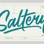 Saltery Brush Font Free