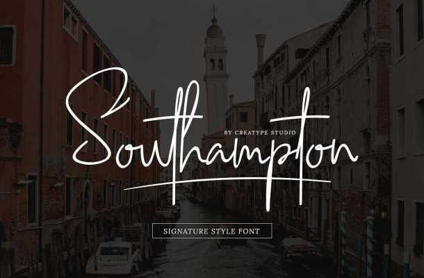 Southampton Signature Style Font Free