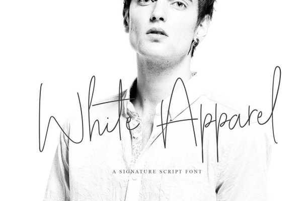 White Apparel Script Font Free Download