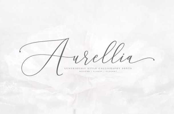 Aurellia Script Font Free Download