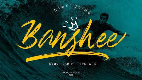 Banshee Brush Font Free Download