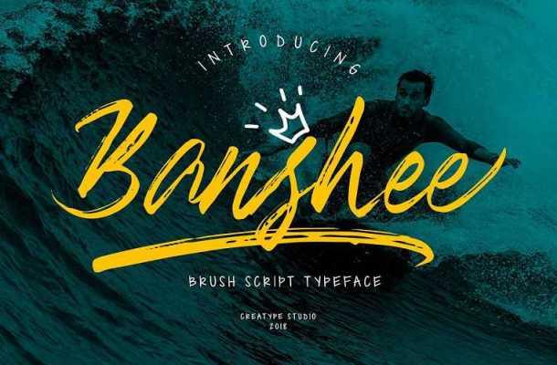 Banshee Brush Font Free Download