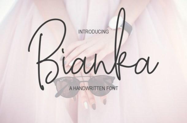 Bianka Script Font Free Download