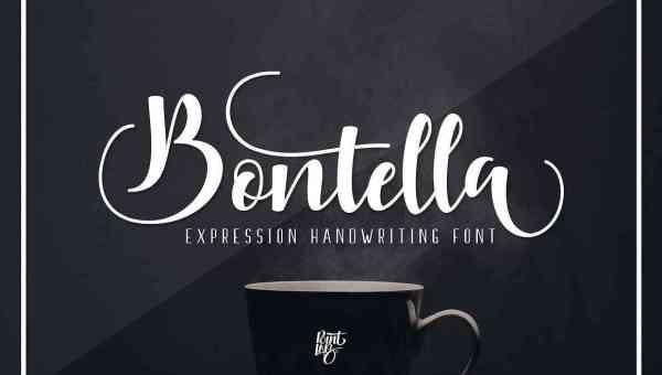 Bontella Script Font Free Download