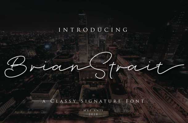 Brian Strait Signature Font Free Download