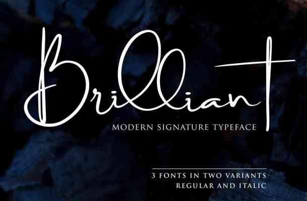Brilliant Signature Font Free Download