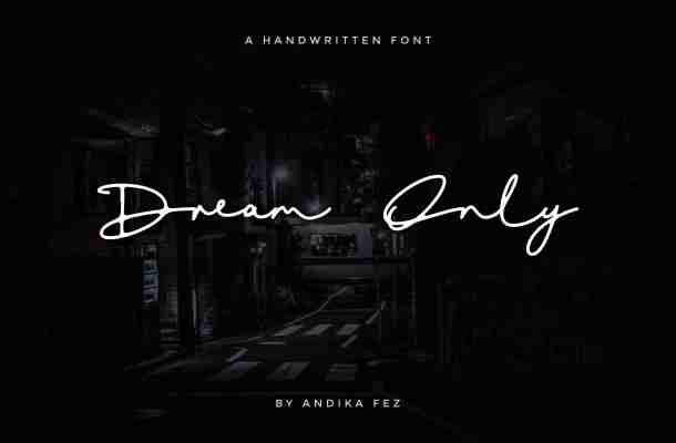 Dream Only Script Font Free Download