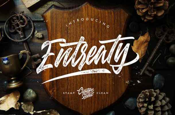 Entreaty Font Free Download