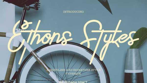 Ethons Styles Script Font Free Download